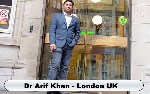 Dr Arif Khan Dentist Smile in Hour India London UK
