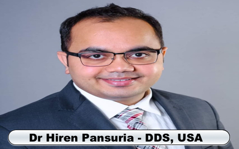 Dr Hiren Pansuria DDS USA Dentist Smile in hour cosmetic laser dental implant clinic Ahmedabad Mumbai Delhi India