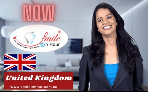 United Kingdom Smile in Hour Dental Implant Clinic smile makeover india